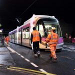 Successful tram test on Bilston Road's new tram track