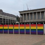 Midland Metro Alliance mark Birmingham Pride with Victoria Square hoarding