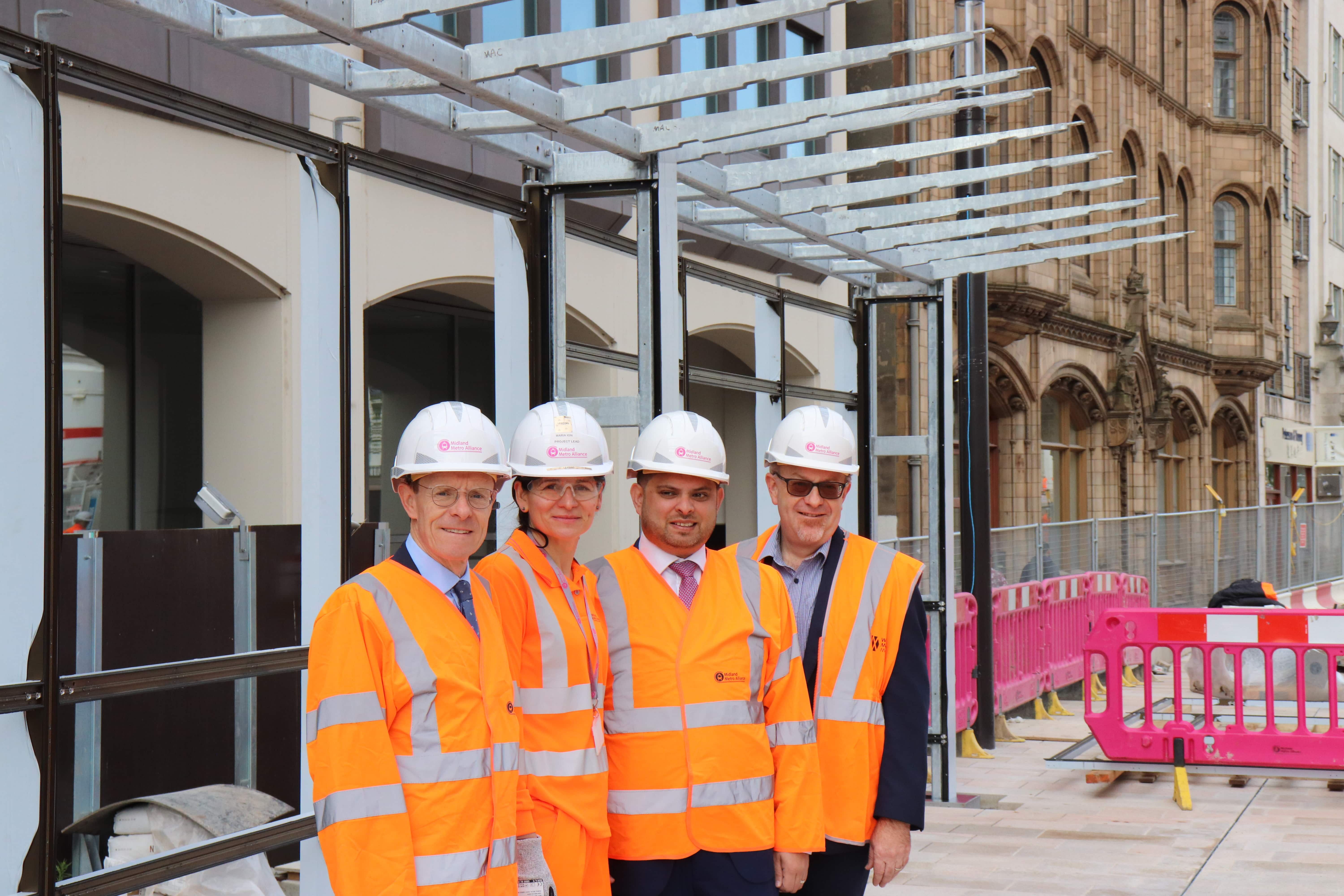 First look at new city centre tram stops as work ramps-up in the city
